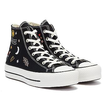 Converse All Star Lift It's Ok To Wander Hi Womens Black / White Trainers
