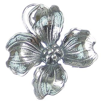 Dereń Kwiat Sterling Silver Charm .925 X 1 Rośliny roślin Kwiaty Charms - 3705