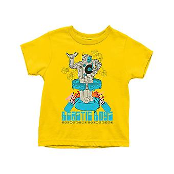 The Beastie Boys Kids T Shirt Robot Band Logo new Official Yellow Ages 3-14 yrs