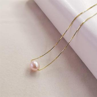 Natural Freshwater Sterling Silver Pearl Pendant Necklace