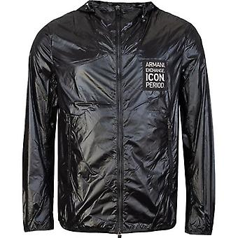 Icône Armani Exchange à capuchon Windbreaker