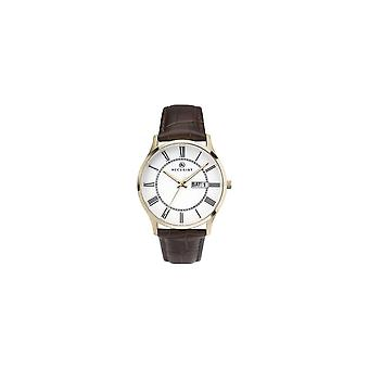 Accurist 7237 Classic Gold & Brown Leather Men's Watch