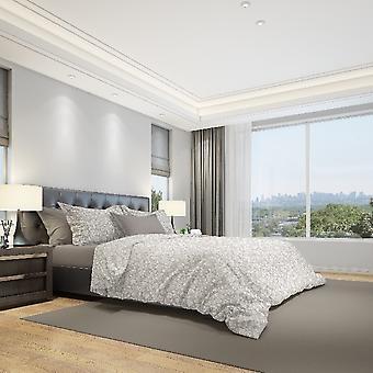 Parure Arabesque Bettbezug Beige Farbe, Baumwolle grau, L250xP200 cm, L50xP80 cm