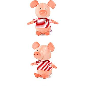 Cheeky Chumz Super Soft Squeaker Plush Dog Toy With Unique Sound Pig