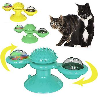 Pet For Turntable Puzzle Glowing Ball Interactive Windmill Toy