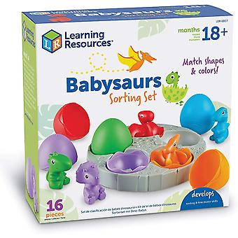 Oppimisresurssit Babysaurs-lajittelusarja, Dino, Laskeminen ja lajittelu lelu
