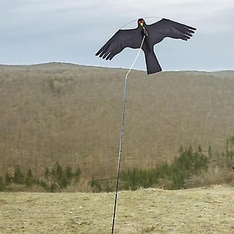 New Bird Scarer Emulation Flying Hawk Drive Bird Kite  (black)