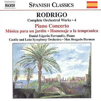 J. Rodrigo - Rodrigo: Complete Orchestral Works, Vol. 4 [CD] USA import