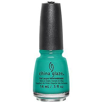 China Glaze Enamel Color Turned Up Turquoise 14 ml
