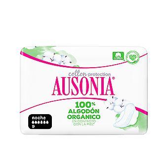 Ausonia Ausonia Organic Compresas Noche Alas 9 Uds For Women