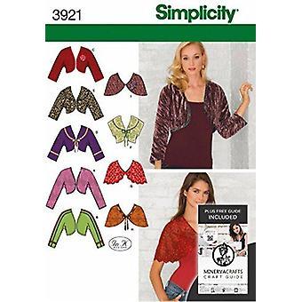 Yksinkertaisuus Ompelu kuvio 3921 Misses Boleros & Capelets Koot 16-24 U5