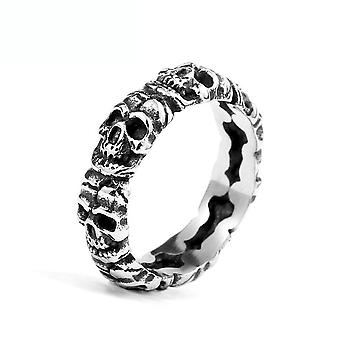 Retro Skull Ring Stainless Steel Finger Ring For Men