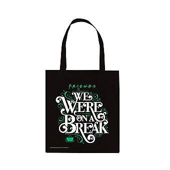 Friends 'We Were On A Break' Canvas Tote Bag