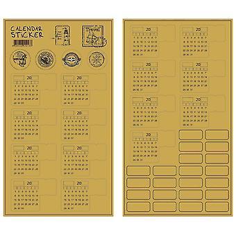 Index Universal Handwritten Calendar Sticker