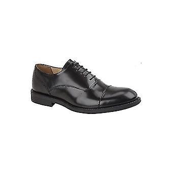TredFlex Franklin Mens Leather Oxford Shoes Black