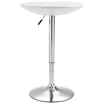 vidaXL bartisch blanc Ø60 cm ABS