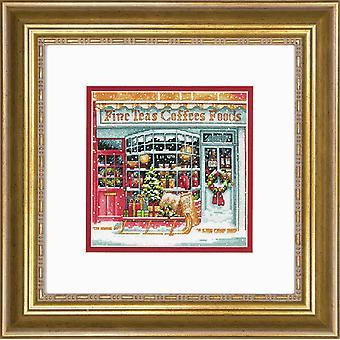 Mått räknade Cross Stitch Kit: Gold Petites: Coffee Shoppe