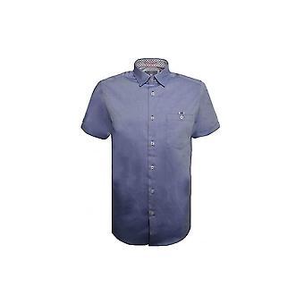 Ted Baker miesten sininen Wooey lyhythihainen paita