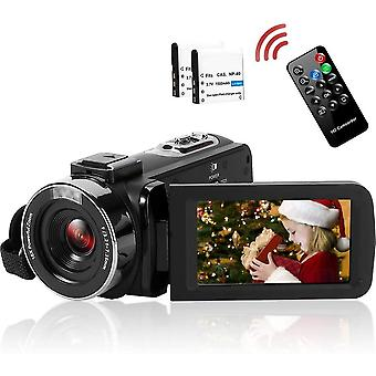FengChun Videokamera Camcorder Full HD 2.7K 42MP Video Camcorder 18-Fach Digitalzoom Fülllicht