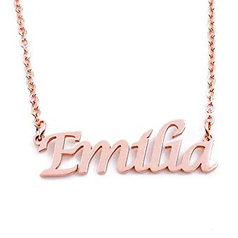 KL Kigu Emilia - Women's necklace with name, rose gold, with name, fashionable jewel, gift for girlfriend, mother, sister
