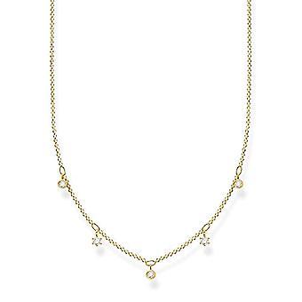 Thomas Sabo, Sterling 925 hopea naisten kaulakoru, valkoiset kivet, pituus 40-45 cm(2)