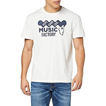 Pepe Jeans Burry T-Shirt, Ivory (Mousse 808), Unique (Size Manufacturer: X-SMA L L) Men's