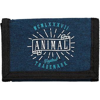 Animal Exploited Polyester Wallet in Dark Navy
