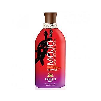 Emerald Bay Mojo Dark Bronzing saus hete dubbele bronzer Tanning lotion-250ml