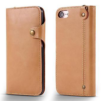 Portefeuille étui en cuir fente pour carte pour samsung note9 kaki pc3423