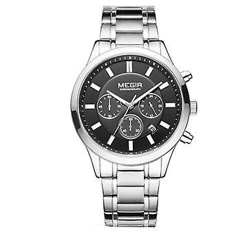 Men's business fashion watch, stainless steel waterproof luminous quartz watch