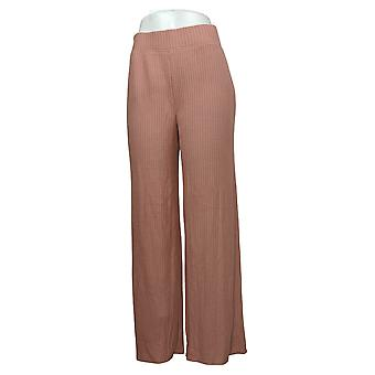 All Worthy Hunter McGrady Women's Waffle Knit Wide Leg Pant Pink A390636