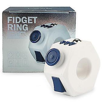 ストレス減圧リングベントおもちゃx2127を和らげるために青い減圧リングプラスチックおもちゃ
