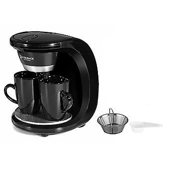 الكهربائية البخار بالتنقيط صانع القهوة، مزدوج فنجان آلة القهوة