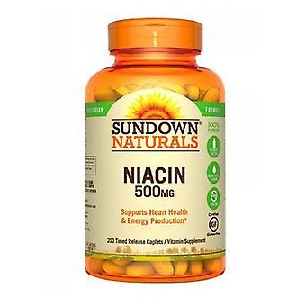 Sundown Naturals Niacin, 500 mg, 12 X 200 Caplets