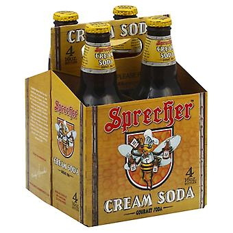 Sprecher Soda Cream 4Pk, Case of 6 X 64 Oz