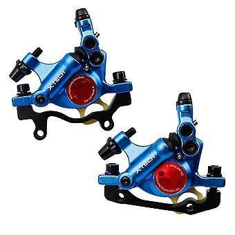 Apair z ZOOM Bike HB-100 Hydrauliczny hamulec tarczowy MTB Road Bicycle Line Pulling Brake Clamp, niebieski (niebieski)