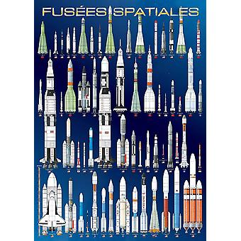 Eurographics International Space Rockets Jigsaw Puzzle (1000 Pieces)