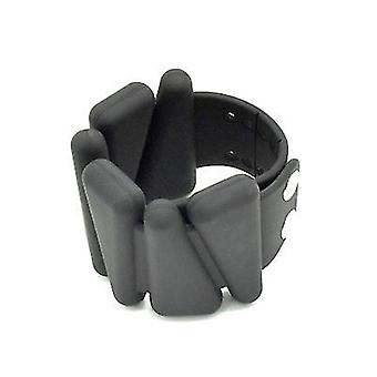 Hot Selling Yoga Fitness Weight Bracelet Silicone Wrist Band(Black)