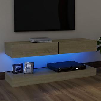 vidaXL TV-kaappi LED-valoilla Sonoma tammi 120x35 cm