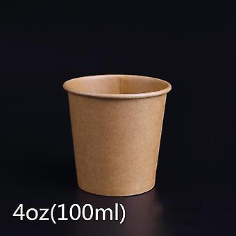 Mini papel Kraft e copo descartável pequeno