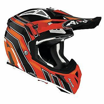 Airoh Aviator Ace Art Off-Road Motocross ATV Helmet Gloss Orange Black