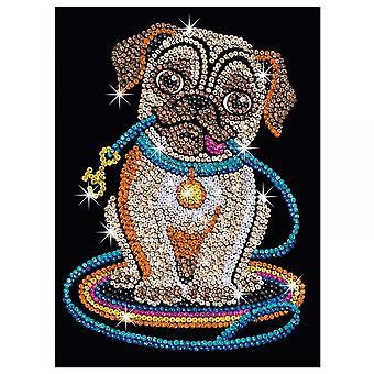 Sequin Art Sequin Lily Pug Dog Junior