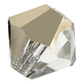 Preciosa Tšekin kristalli, Bicone-stäkki 4mm, 36 kpl, Crystal Starlight Gold