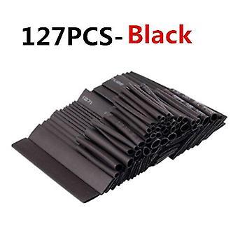 127 St värme krympning sleeving rör rör sortiment kit elektrisk anslutning elektrisk tråd wrap kabel vattentät krympning 2:1