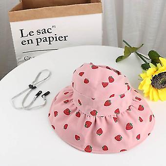 Cute summer baby girl bucket hat print outdoor bowknot kids girl sun hat children intant toddler panama beach cap