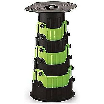 Tabouret télescopique compact Siège pliant rétractable portable pour une utilisation extérieure et intérieure Enfants Adultes Camping Randonnée Pêche BBQ - Vert clair