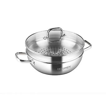 Steaming Leyue Layer Pot Stainless Steel Kitchen Steamer Double-layer Soup Pot Delumen