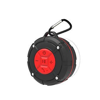 Haut-parleur stéréo bluetooth sans fil portable IPX7 étanche avec batterie 400 mAh, radio FM (rouge)