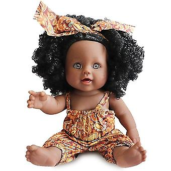 Black Dolls 12in  African Girl Baby Doll For Kids Perfect For Birthday