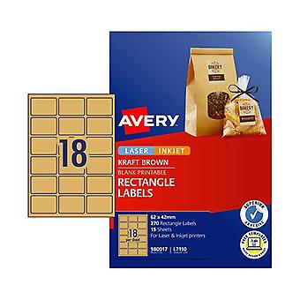 Avery Label Rectangle Brown L7110 Pack Of 270